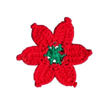 Fashion Hand Crochet Flower Applique Motif Accessories Embellishments
